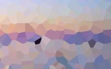 酷炫 晶格化 曲线 抽象几何体海报背景