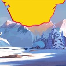 卡通雪地首图