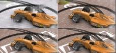 旋转漂移的F1方程式赛车开场片头AE