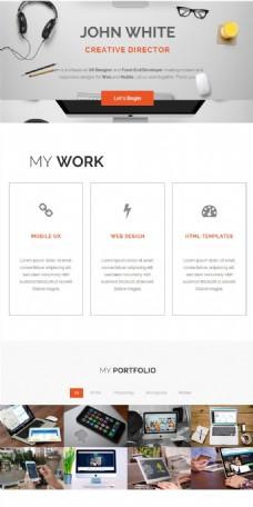 互联网公司平面设计作品html5模板