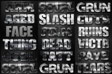颓废风格电影主题字体设计PS样式V8