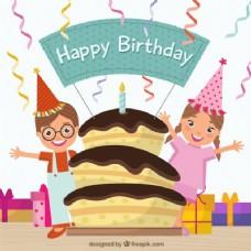 生日蛋糕和小孩
