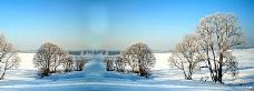 冬季雪景唯美背景banner