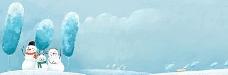 雪人banner创意设计