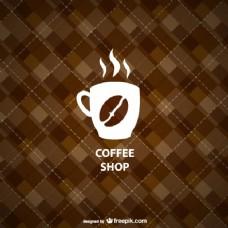 几何咖啡店背景