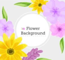 花朵装饰背景