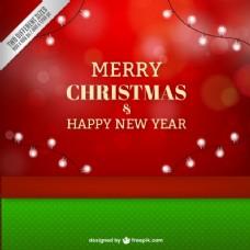 圣诞和新年的红色背景