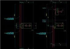 隐框幕墙纵剖节点图CAD图纸