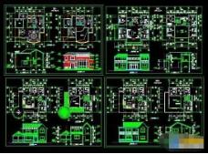 四整套详细别墅设计cad方案施工图
