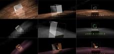 玻璃质感的透明立方体logo演绎动画