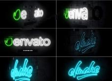 霓虹灯标志演绎片头AE模板