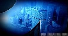 蓝色风格视频过渡展示AE模版