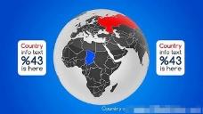 世界地图旋转展示动画AE模板