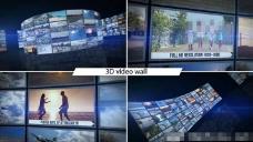 3D视频墙动画展示AE模版