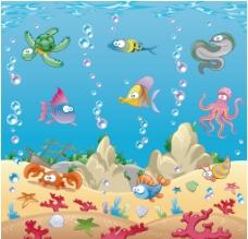海洋世界动物矢量图片