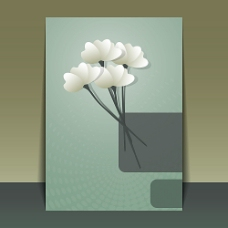矢量花朵海报背景