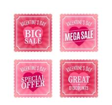 粉色情人节促销卡片