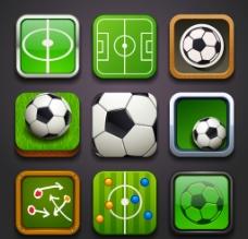 足球图标 体育图标设计图片