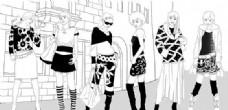 时尚女孩 彩绘人物 分层 PSD _0002