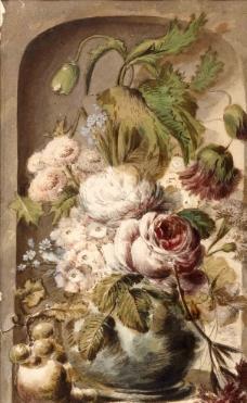 油画花卉草图图片