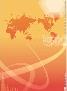 橘色科技背景图片