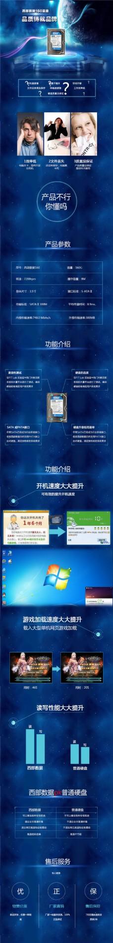 数码 硬盘 详情页 海报