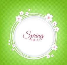 素雅春季促销花环矢量素材图片