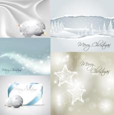 白色圣诞节矢量素材