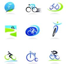 骑自行车运动标识图片
