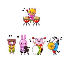 动物音乐团图片