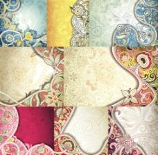 古典花卉花纹背景二图片