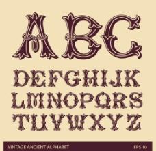花纹字母设计图片