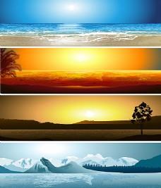 卡通自然风光背景素材
