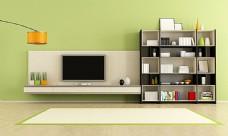 电视与书架