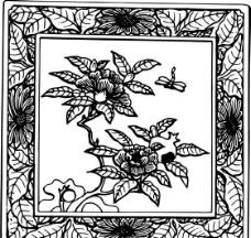 元明时代 矢量版画 古典图案 矢量中华五千年 AI源文件0246