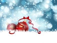 背景虚化背景和圣诞装饰品