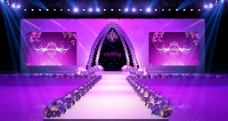 T台紫色舞台