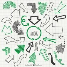 绿色和黑色的箭头笔刷