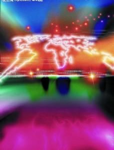 科技创意 星光地球图片模板下载地球 漂亮的五彩图 现代科技 其他 设计图库 72dpi jpg