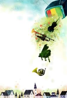 音乐元素创意艺术海报psd素材