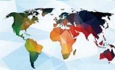 炫彩世界地形图电视沙发背景墙图片
