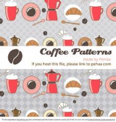 咖啡主题插画素材免费下载