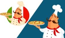 端披萨胖厨师