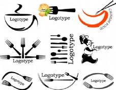 西式餐具刀叉矢量图