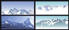 矢量雪山设计