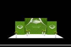 绿色婚礼背景图片