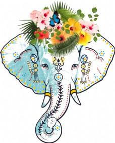 可爱风格的大象素材