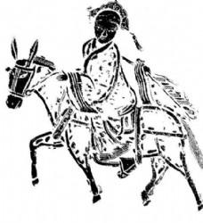 清代上版画 装饰画 中华图案五千年 矢量 AI格式0440