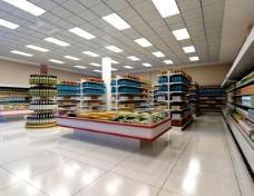 超市3d模型免费下载,
