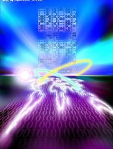 科技创意 闪光地球图片模板下载 意 闪光地球 科技之光 现代科技 其他 设计图库 72dpi jpg